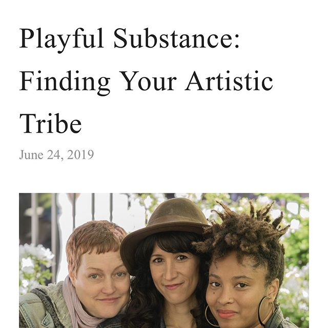 Check out the crew on the OnStage blog @onstageblog Very cool and congrats to @playfulsubstance 💙🙏🏽. Come and see us! You can read more about the festival here: https://www.onstageblog.com/new-blog-1/2019/6/24/playful-substance-finding-your-artistic-tribe