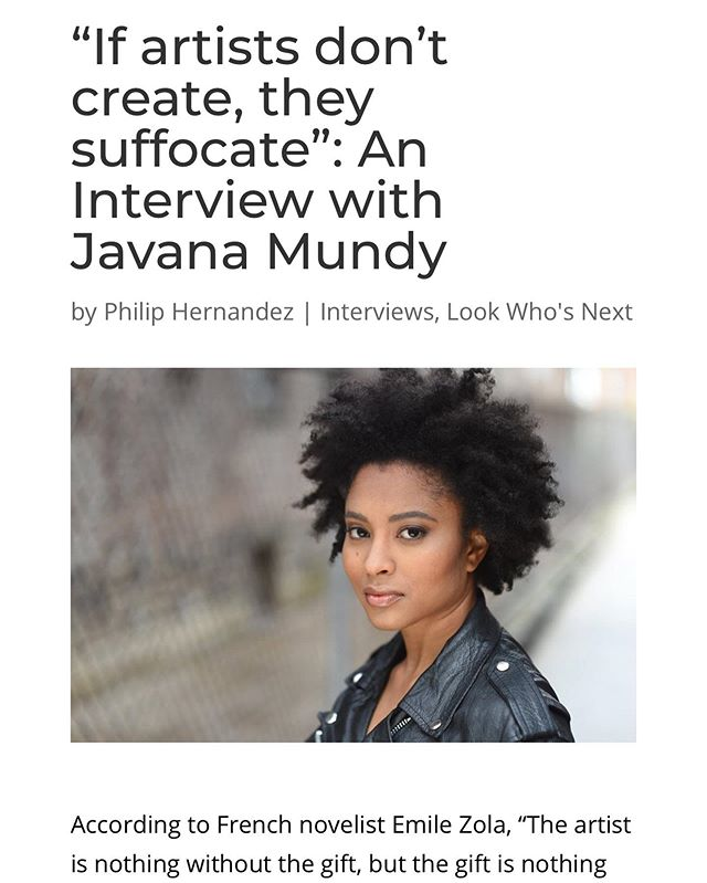 """Thanks for the write up @blacktalenttv and shouts to @honeybmedia . """"If artists don't create they suffocate."""" Check me out! Tickets to show at the Link in bio 💙. Go follow @mamas19theplay #womenintheater #blackactors #blackwoman #art #storytelling #womensnarrative #blackgirlmagic"""