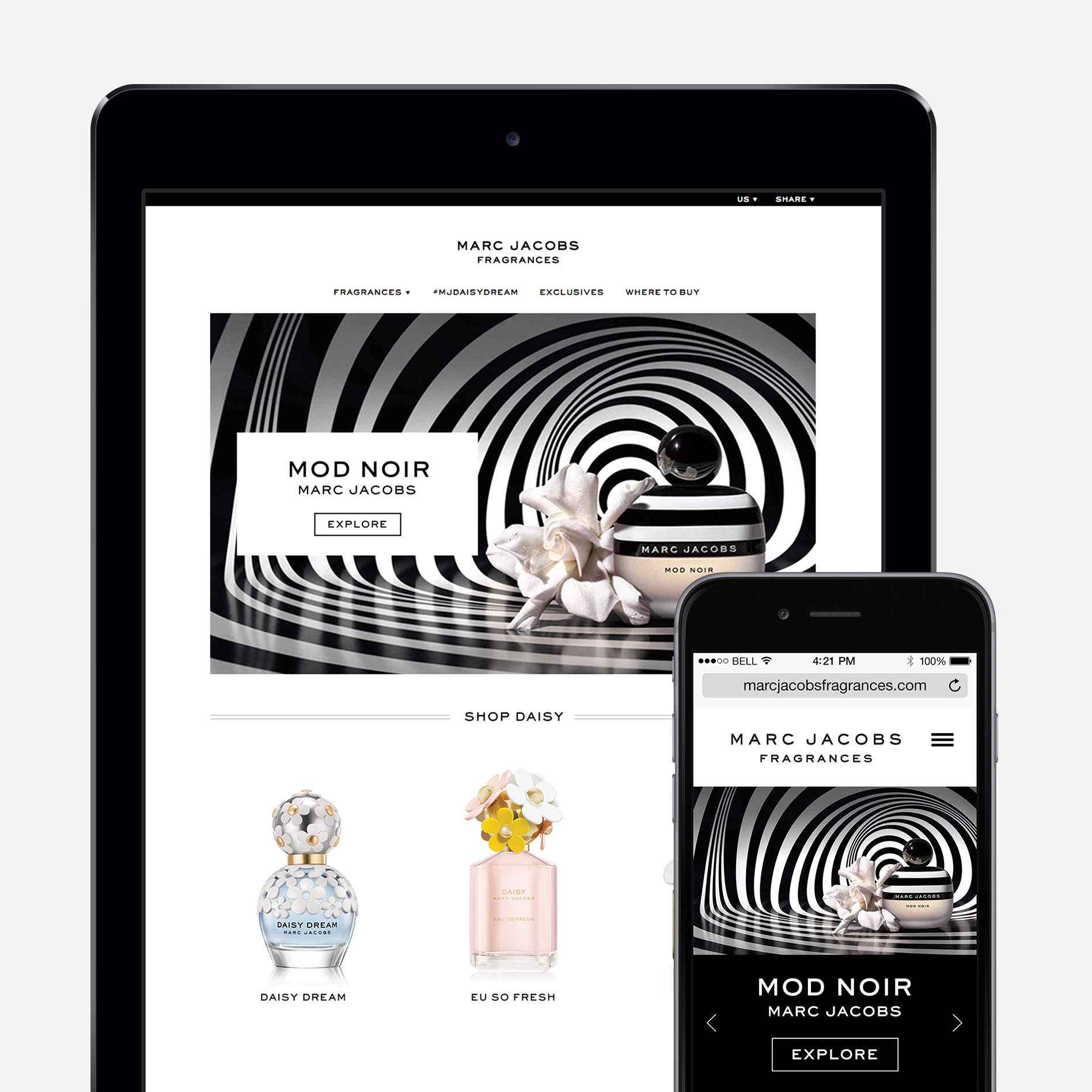 Marc Jacobs Fragrances Homepage Redesign