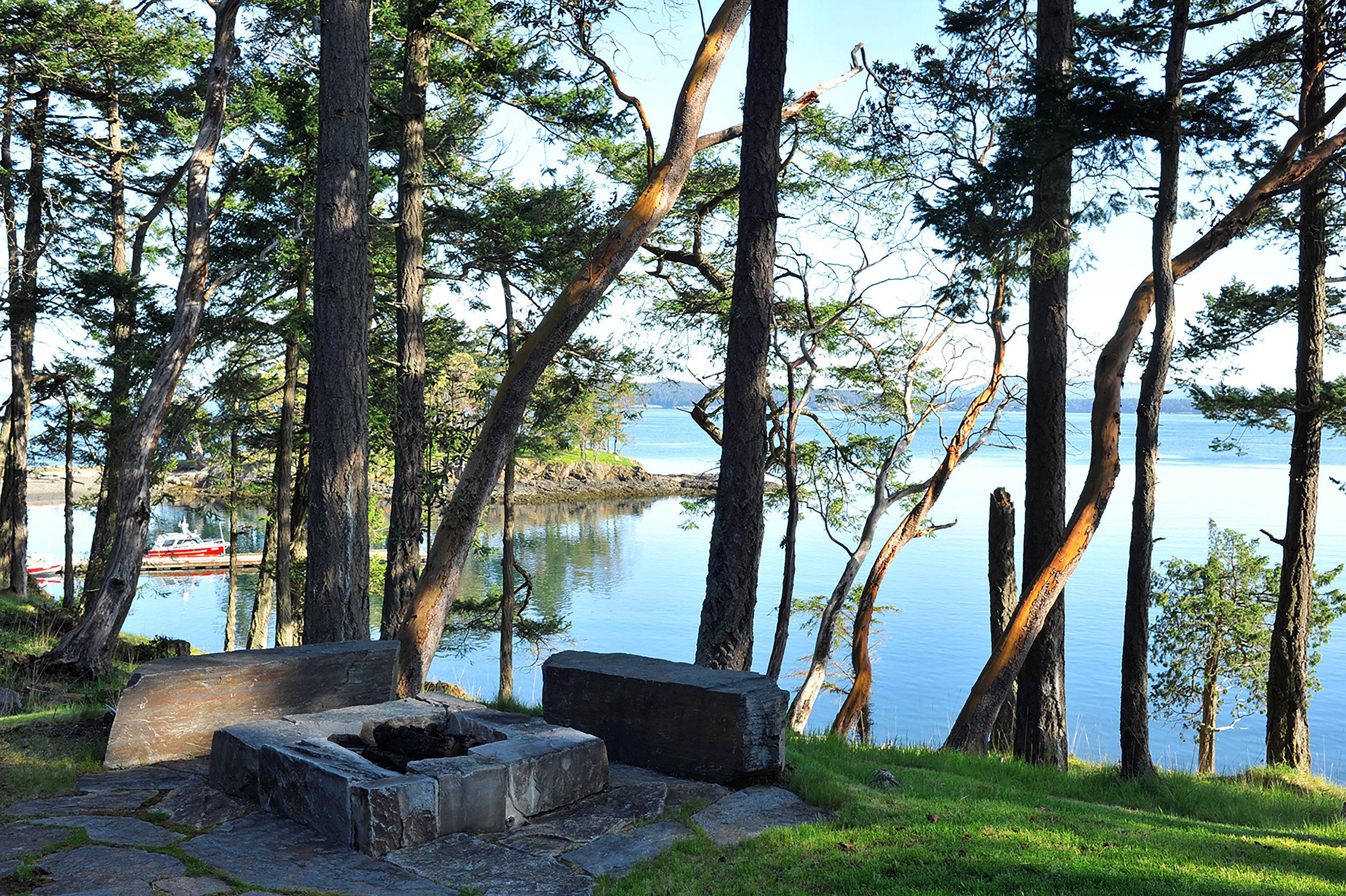 Native landscape and shoreline improvement on private estate in the San Juan Islands