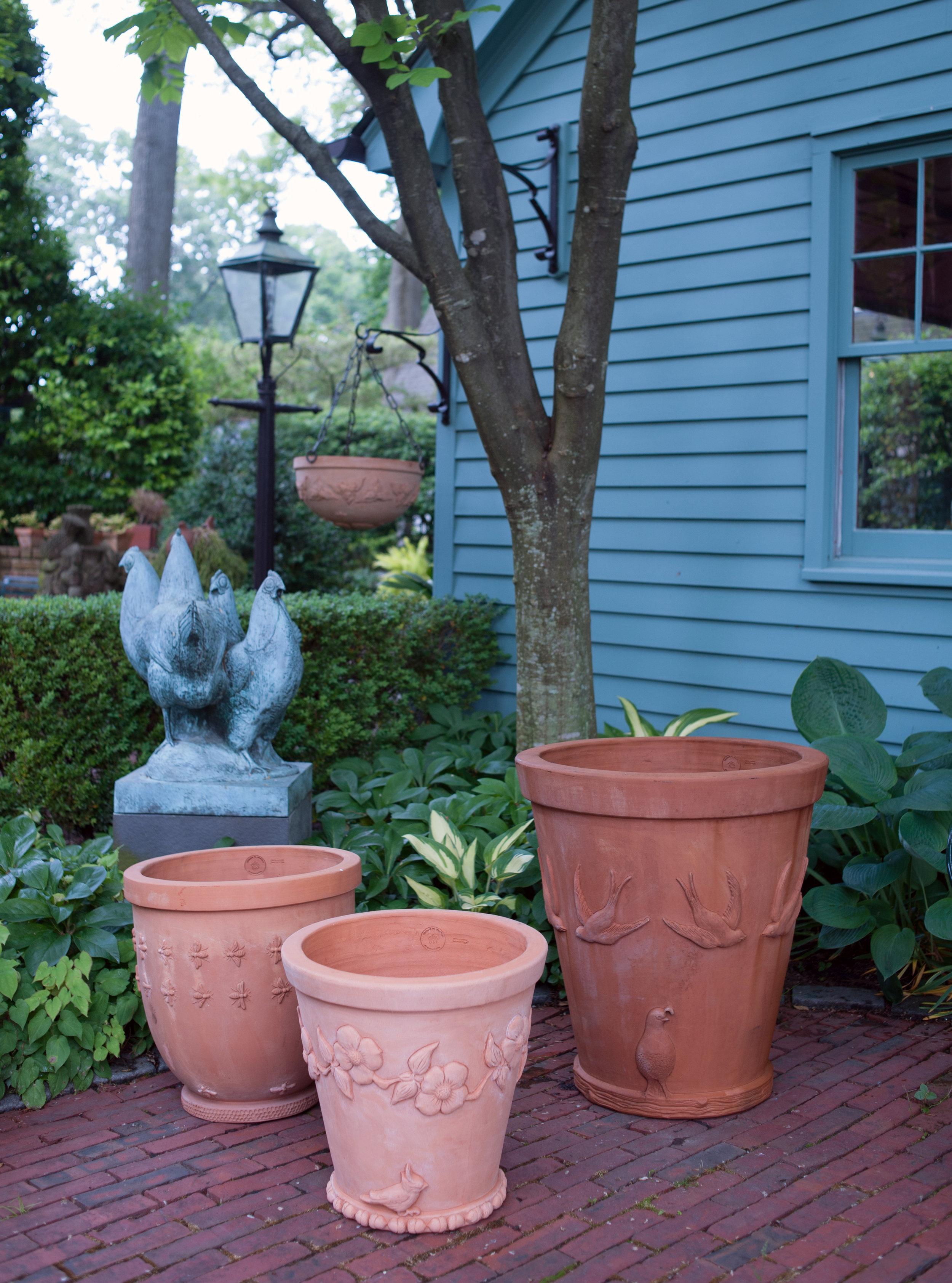 Line of pots design by Land Morphology