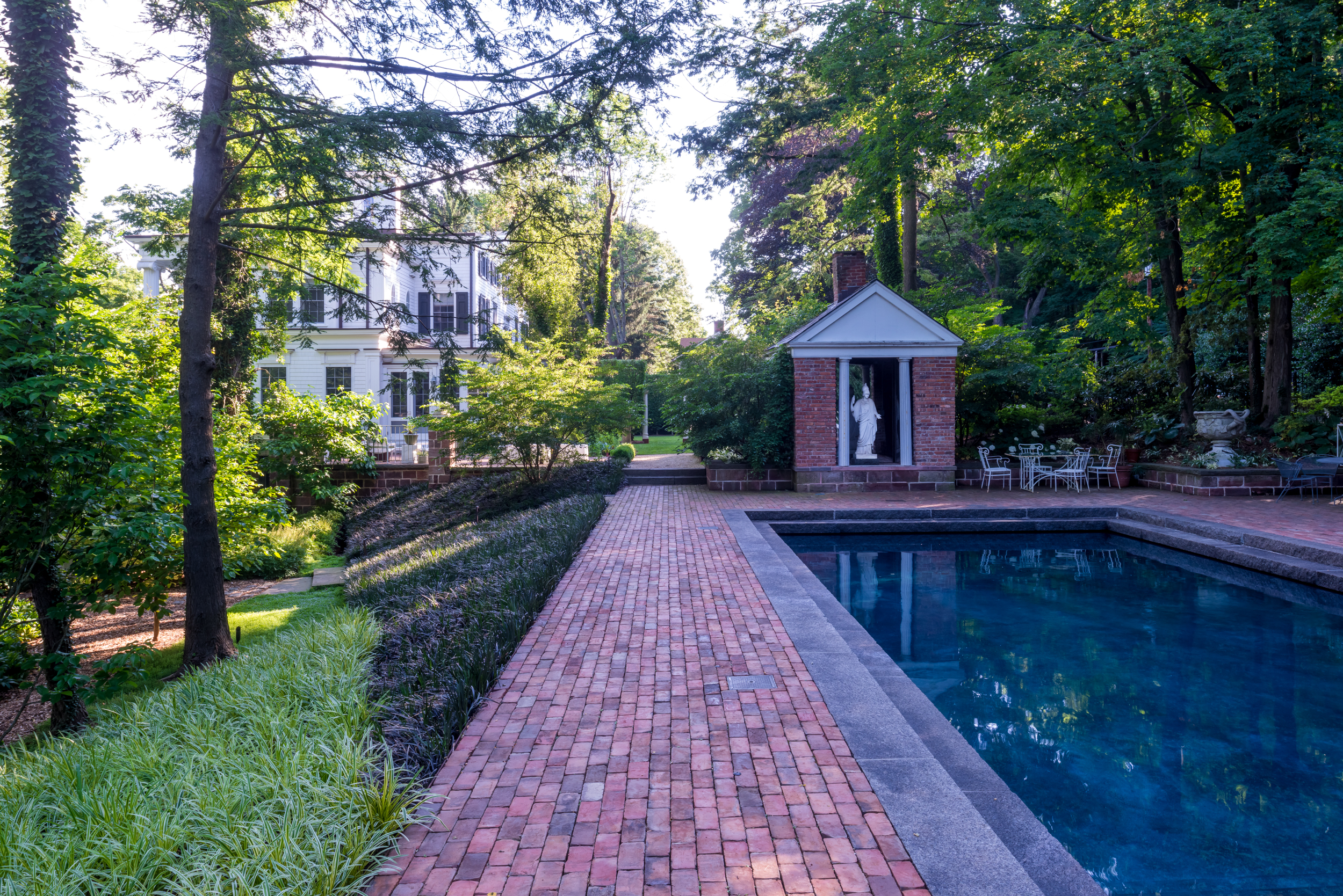 Greek Revival Pool Area