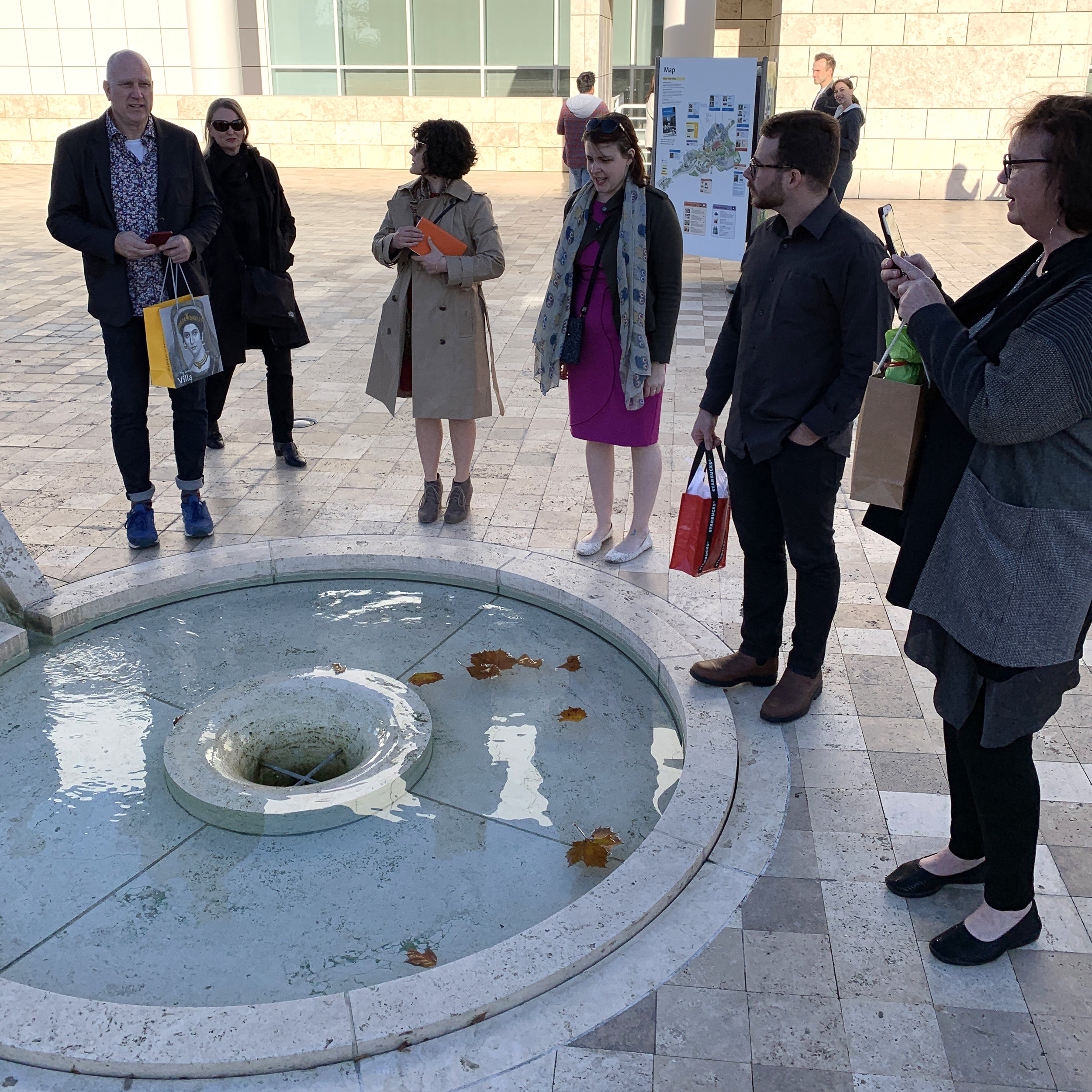 Convening at the stream's source - Getty Center