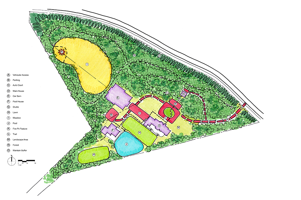 We've designed the site circulation to allow vehicles into the heart of the garden without letting them dominate it.