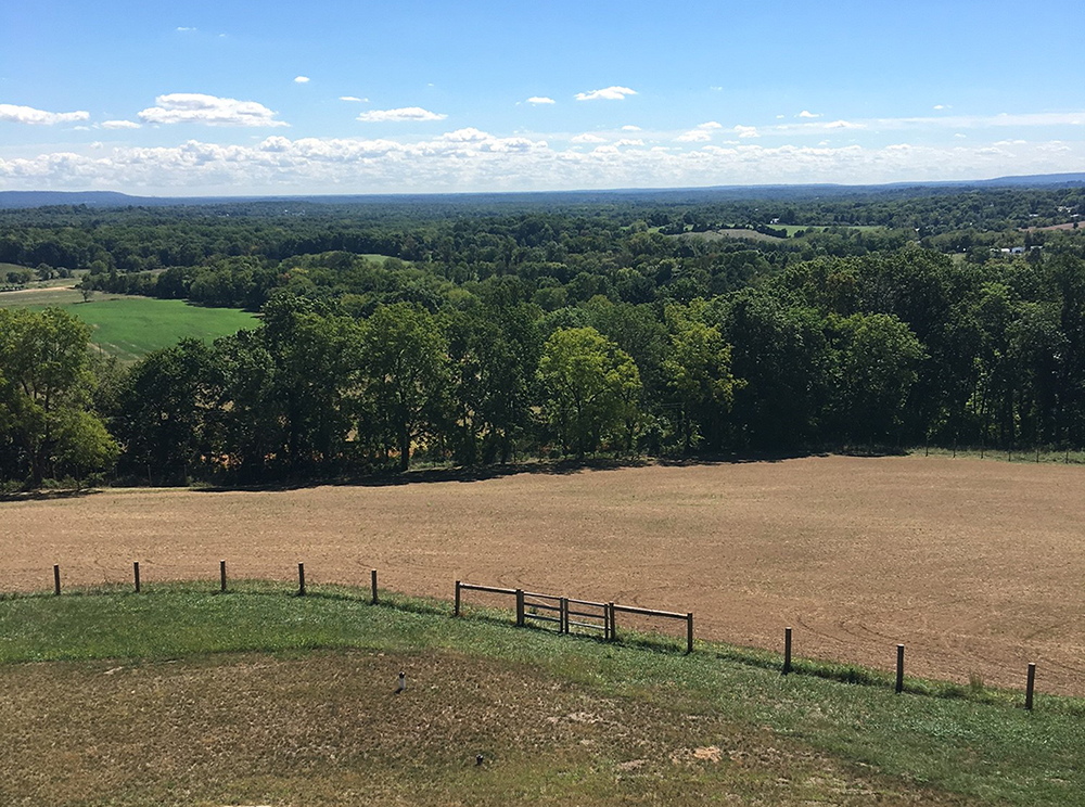 Uninhibited views across the pastoral New Jersey landscape