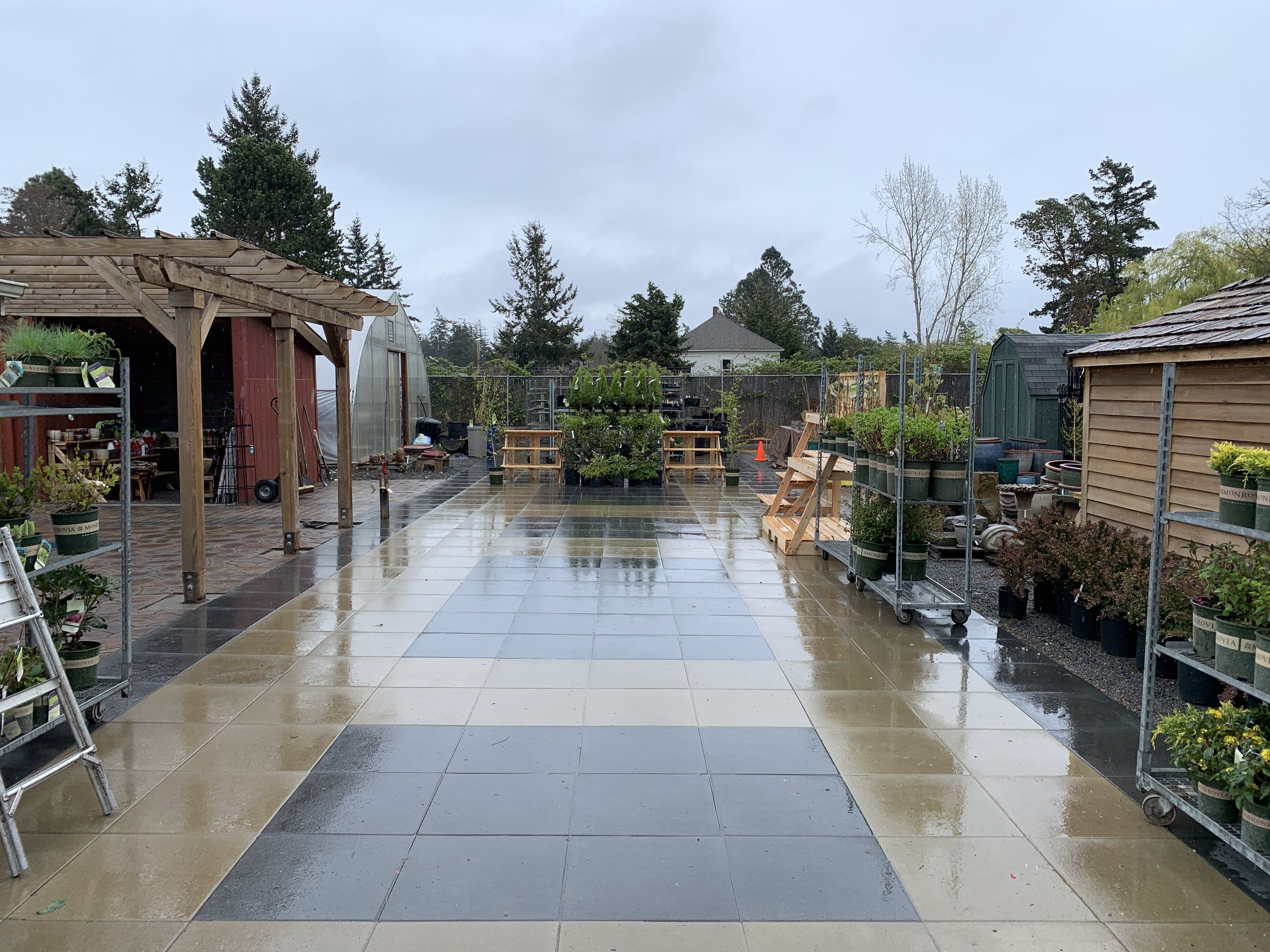 The pavers lead guests from the parking lot to the main entrance and through the entire nursery.