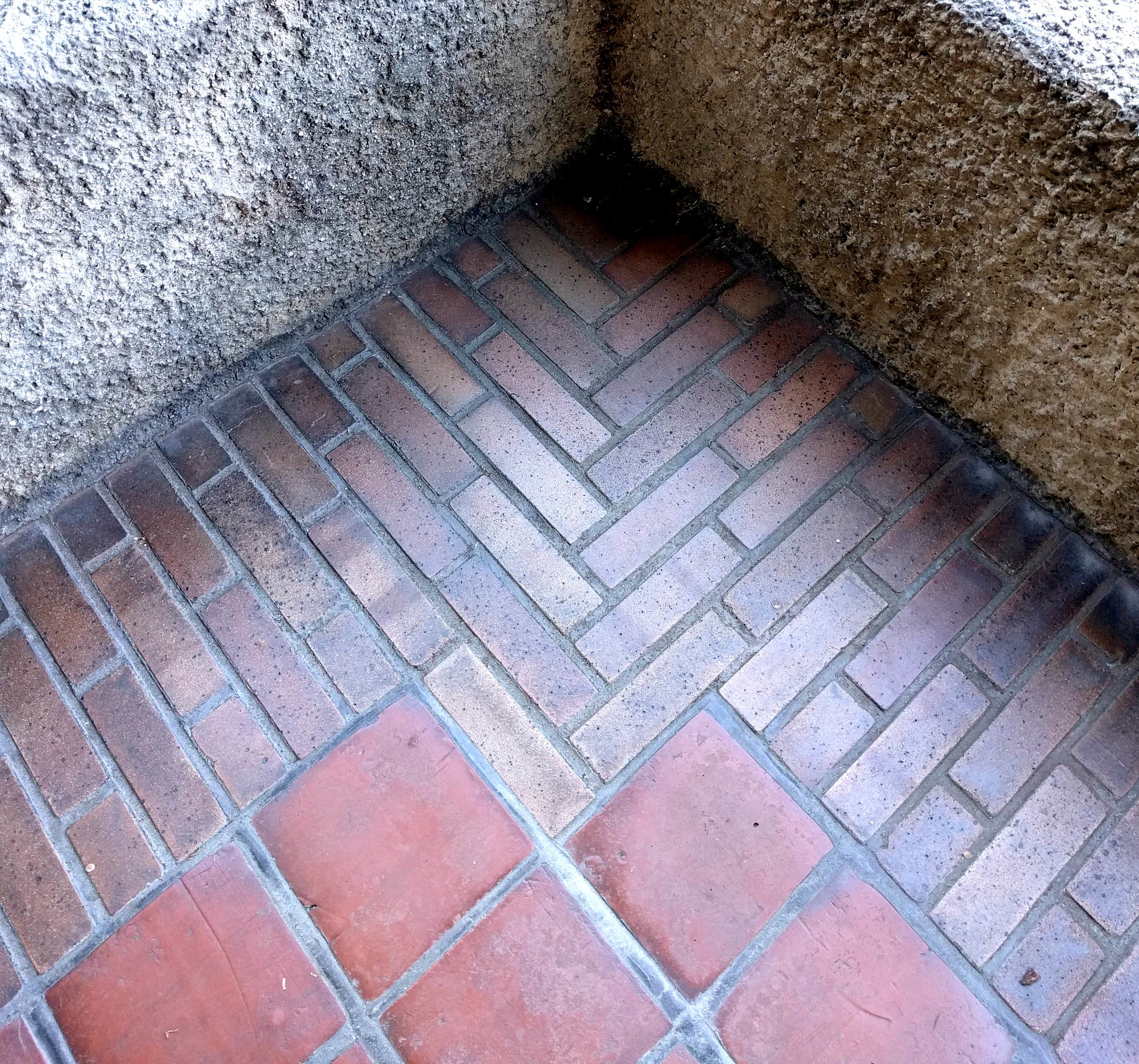 Hand-laid bricks meet red clay tiles at the Gamble House, from our  2018 office trip  to Los Angeles.