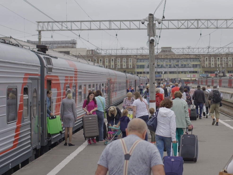 Arriving at the central station in Moscow early on Tuesday morning