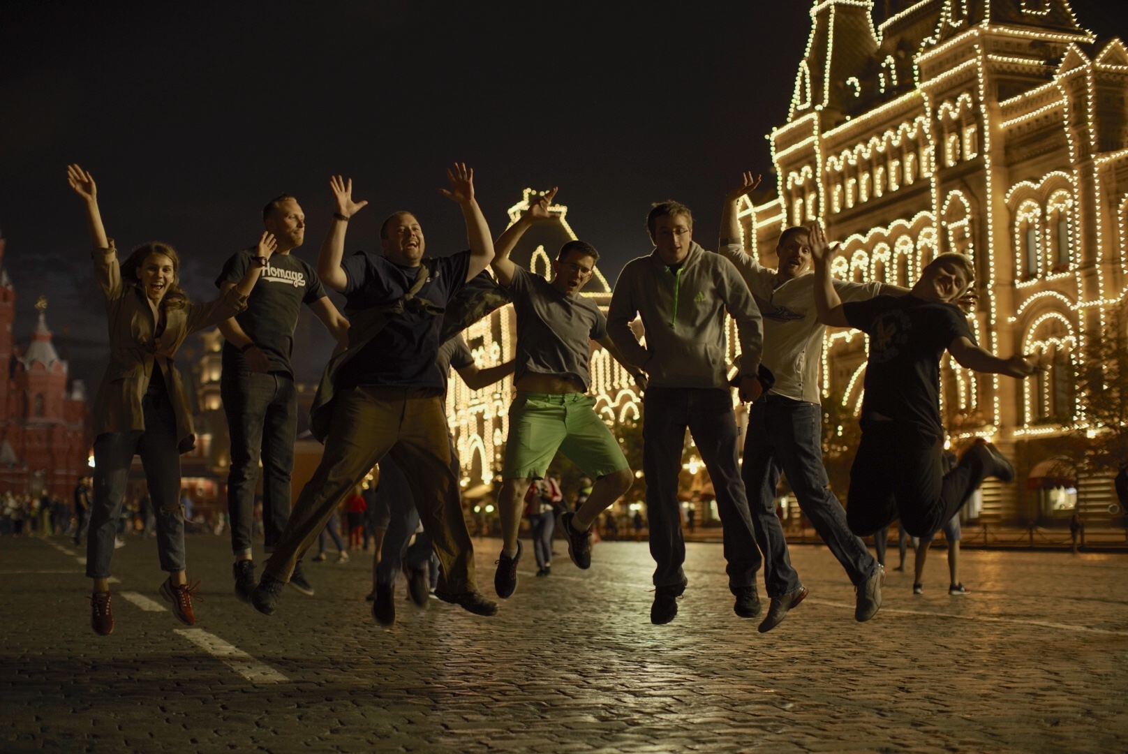 Late night fun in Red Square (for those that weren't sleeping!)