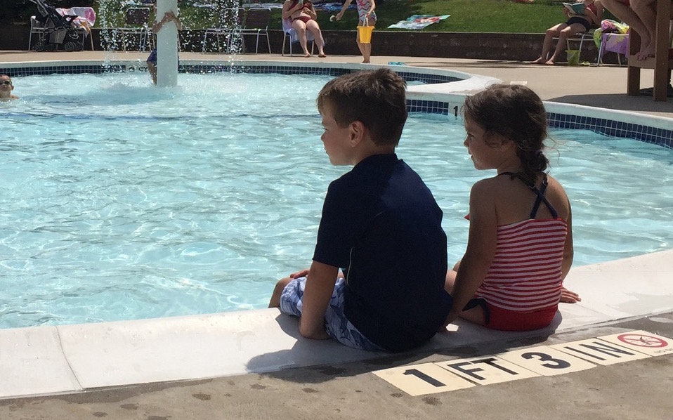 poolside with kids