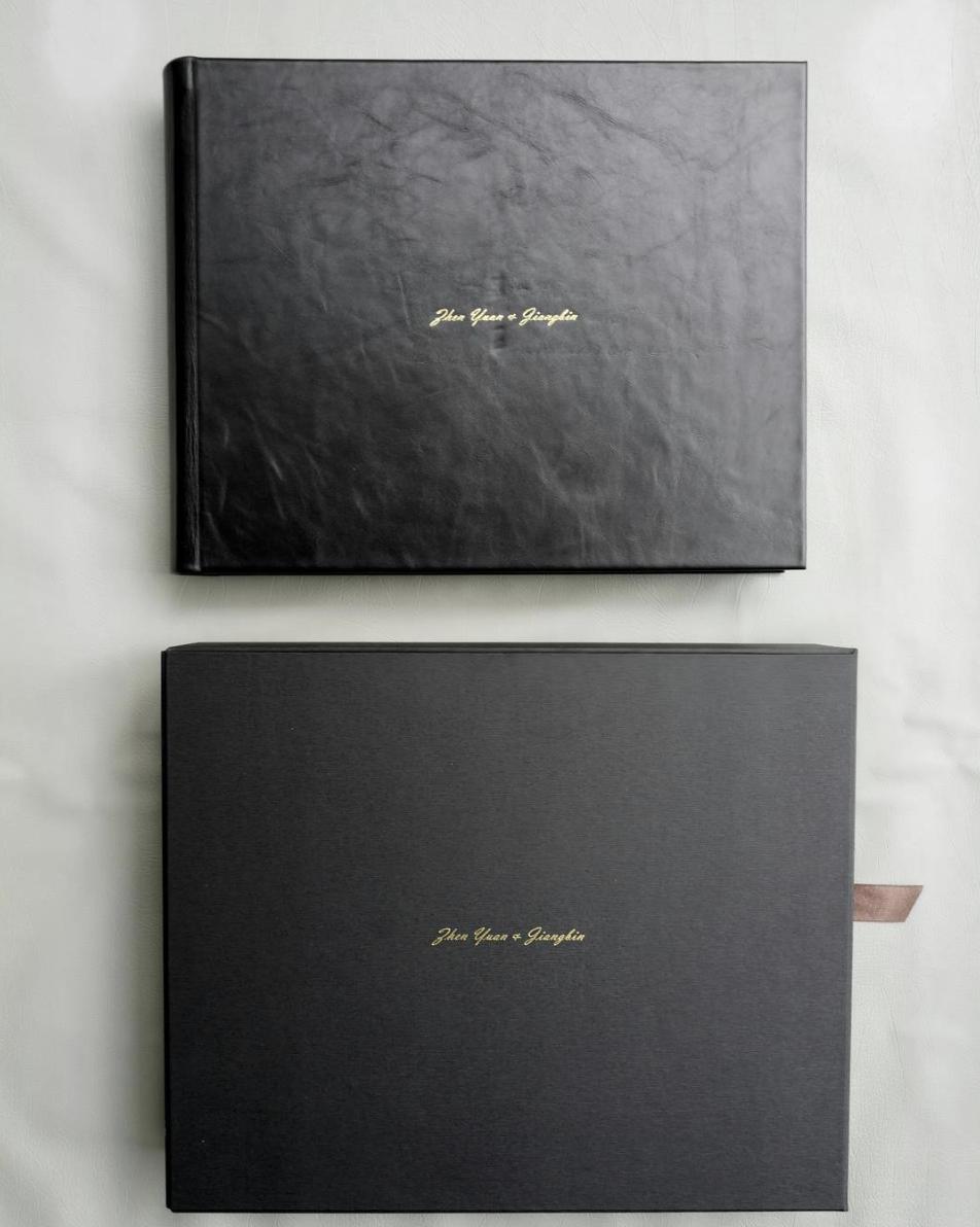 "12x12"" Genuine Leather Flushmount Matte Album with personalization"