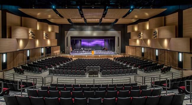 The Veterans Memorial Auditorium at Galvin Middle School  Photo Credit: Bond Brothers