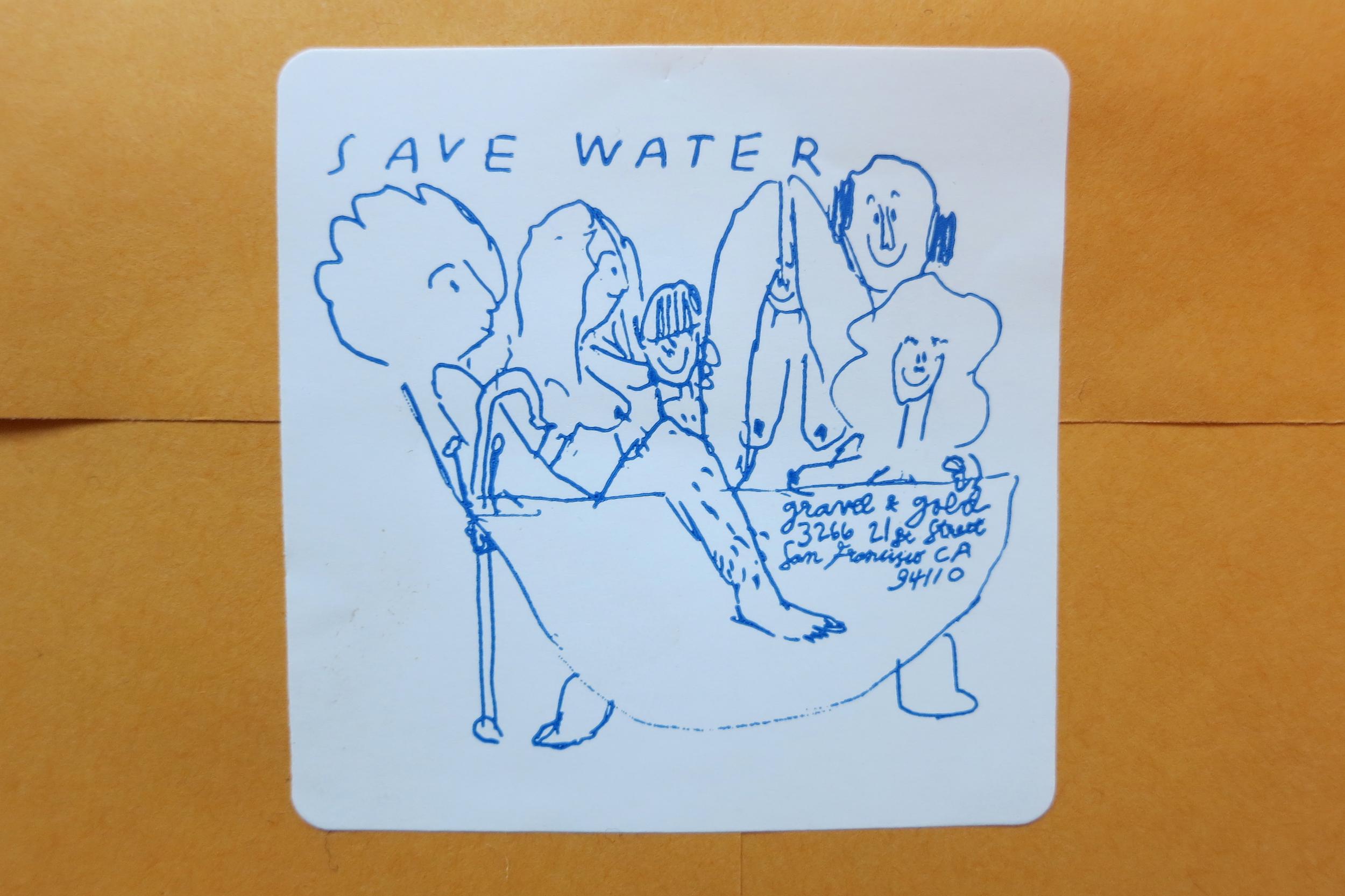 Save Water Sticker, 2014