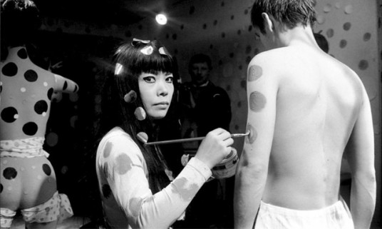 Body painting for Yayoi's film   Self Obliteration