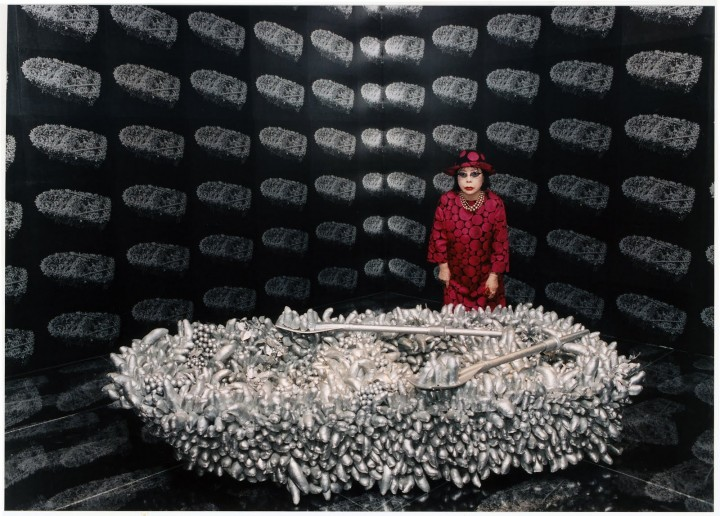 With her  Aggregation: One Thousand Boats Show  installation at the Gertrude Stein Gallery, New York in 1963 and later at a retrospective in 2011.
