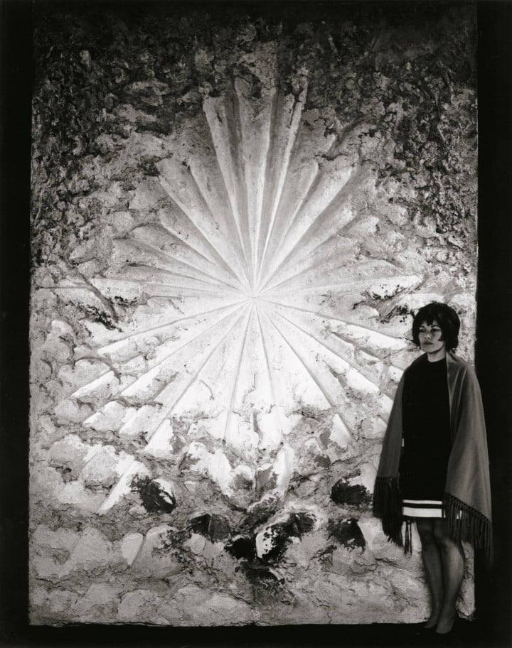 Jay with   The Rose  at the San Francisco Museum of Art in 1969.