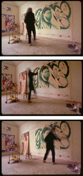 Lee Krasner painting   Portrait in Green  , 1969. Photos by Mark Patiky.