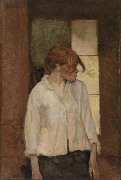 """""""A Montrouge""""–Rosa La Rouge   Henri de Toulouse-Lautrec   1886–1887"""