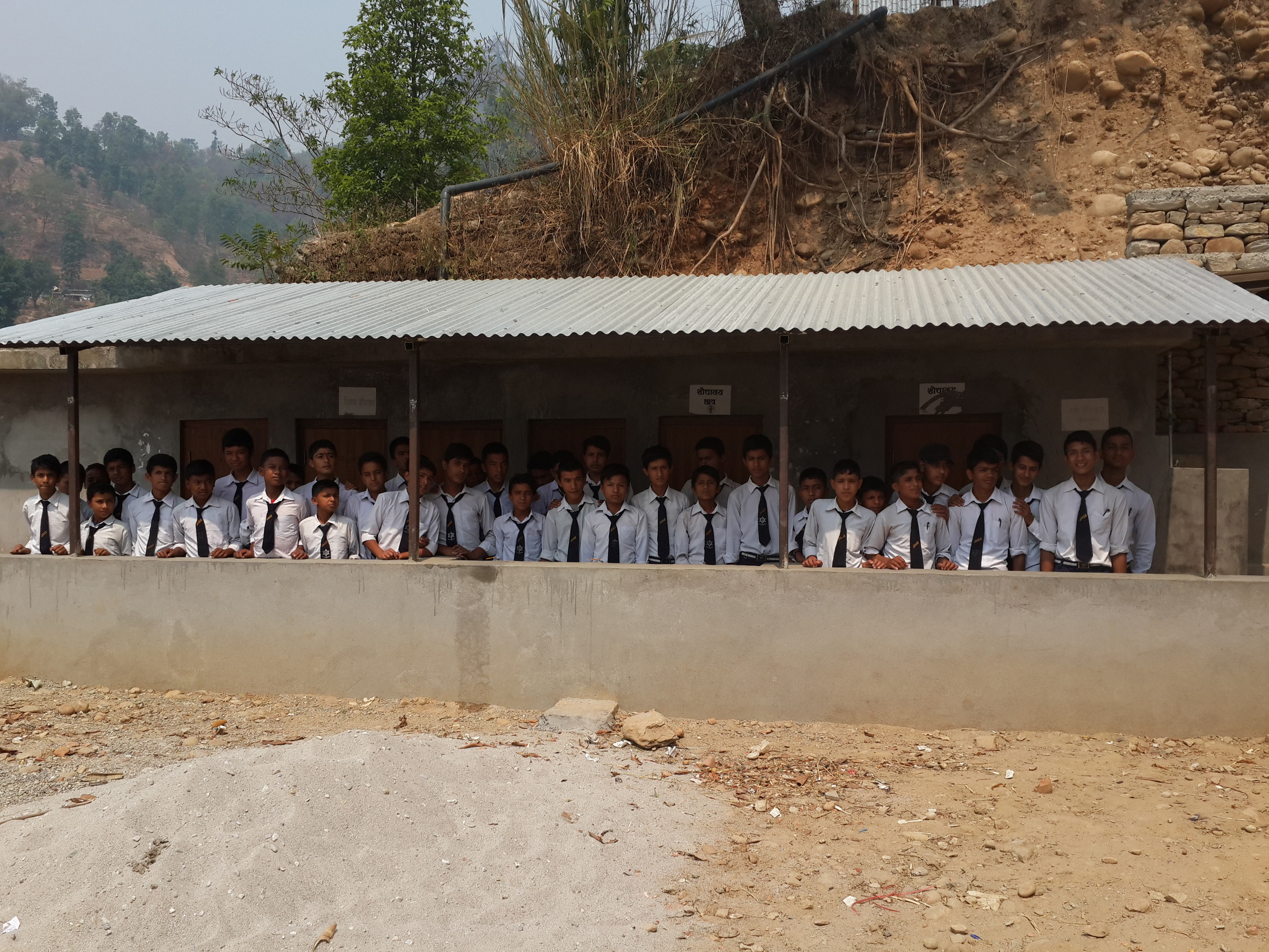 Jalapadevi Boys toilet block completed