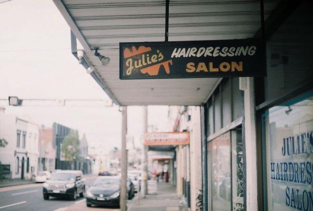 Julie's Hairdressing Salon by @kurteckardt  #35mm #film #photography #mixedbusiness #collingwood #hairdresser #ishootfilm
