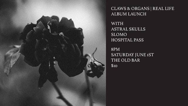 Check out the 4 piece Astral Skulls extravaganza this Saturday night in support of the wonderful Claws & Organs - it's their final show and album launch party.  We're also super excited to play with Hospital Pass and SLOMO! All at The Old Bar for a measly 10 clams.  #melbourne #music #goth #clawsandorgans #astralskulls
