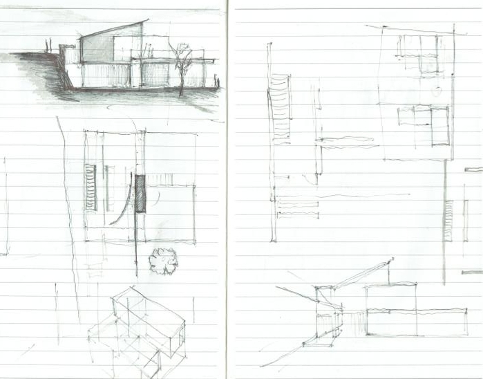 2 New Build Houses in Vale of Glamorgan : early design sketches