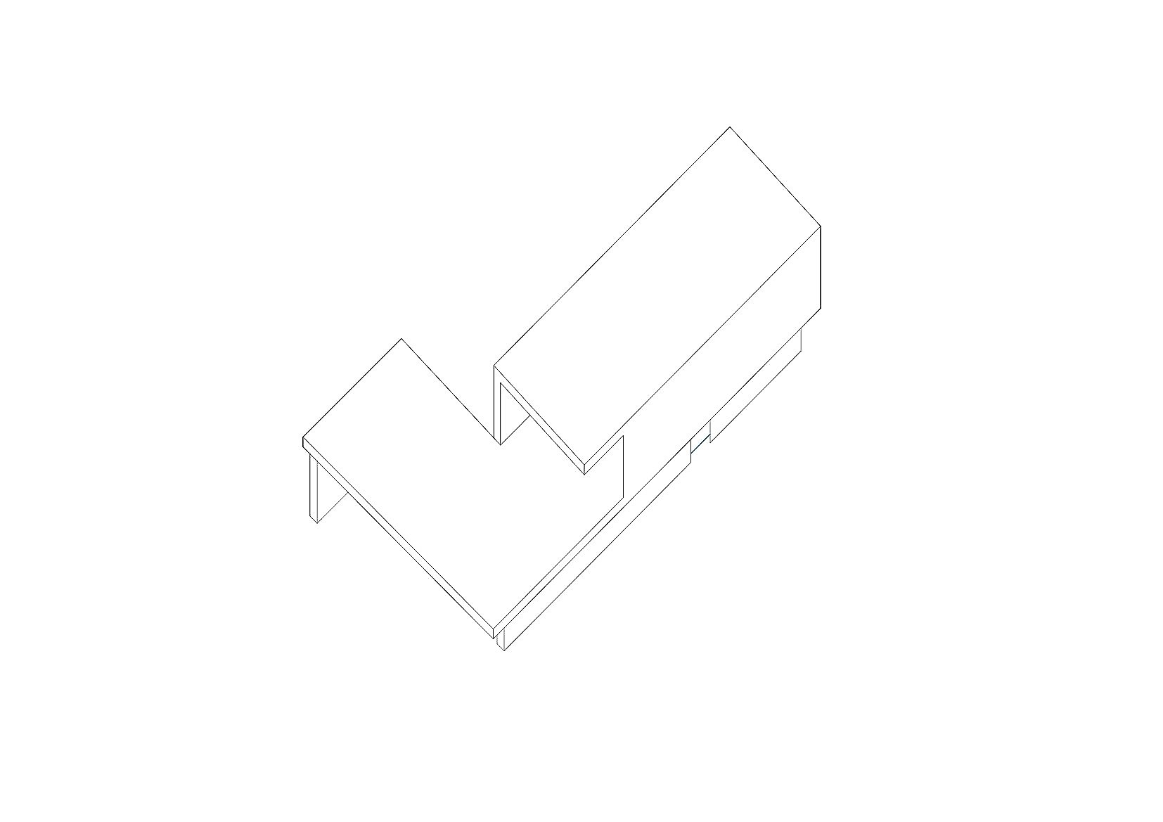 Concept 01 : The new, delicately 'folds' around the old stone structure.