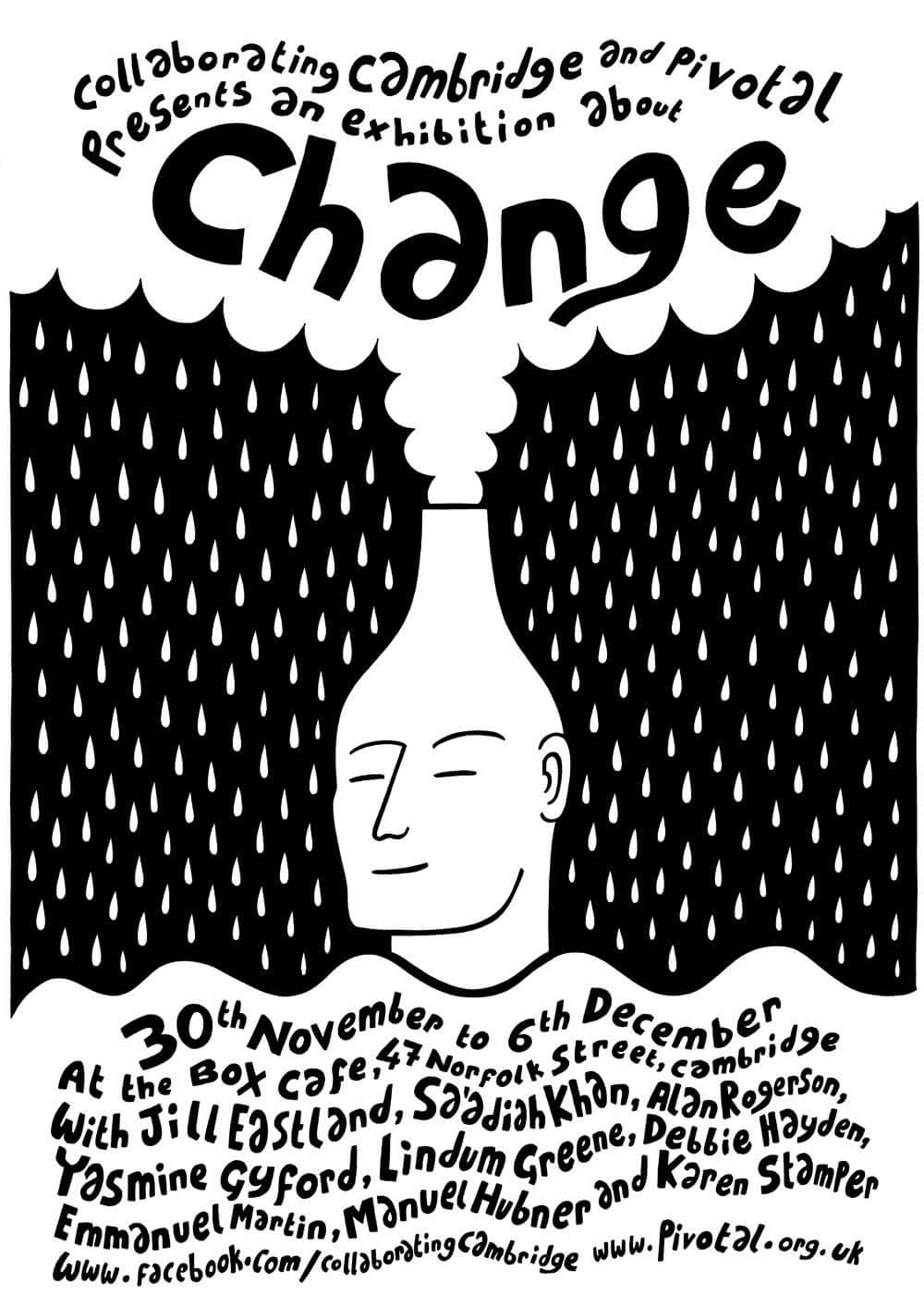 Alan Rogerson's poster for the Change Exhibition.