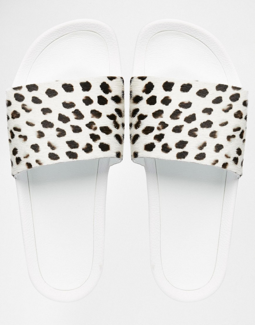adidas Originals Cheetah Print Slider Flat Sandals