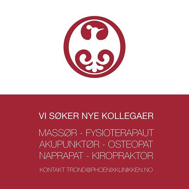 Bli en Phoenix 🐥 Er du snill, flink og liker å hjelpe folk slik de kan bli den beste utgaven av deg selv, og gjøre de bedre rustet for hverdagen. Da vil vi ha deg på laget 🏆For oss er det like viktig å unngå skader/utfordringer som å fikse skader/utfordringer.  Vi ligger sentralt i Oslo sentrum like ved Youngstorget i Møllergata 12. Send oss en mail eller ring, vi gleder oss 🎈. e - trond@phoenixklinikken.no w - www.phoenixklimnikken.no t- 926 95 059