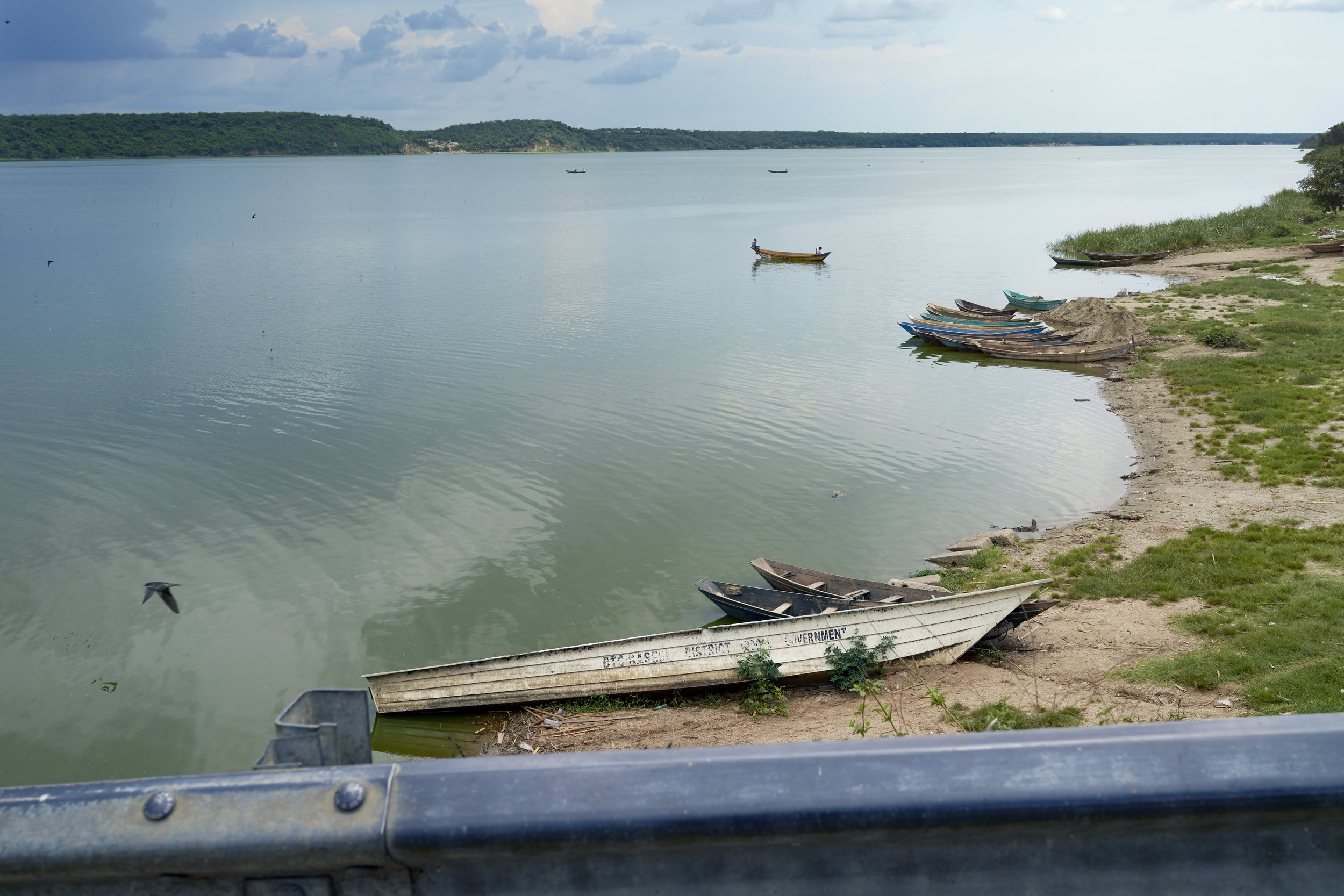 A view over the channel connecting Lake Edward and Lake George in Queen Elizabeth National Park, Western Uganda.