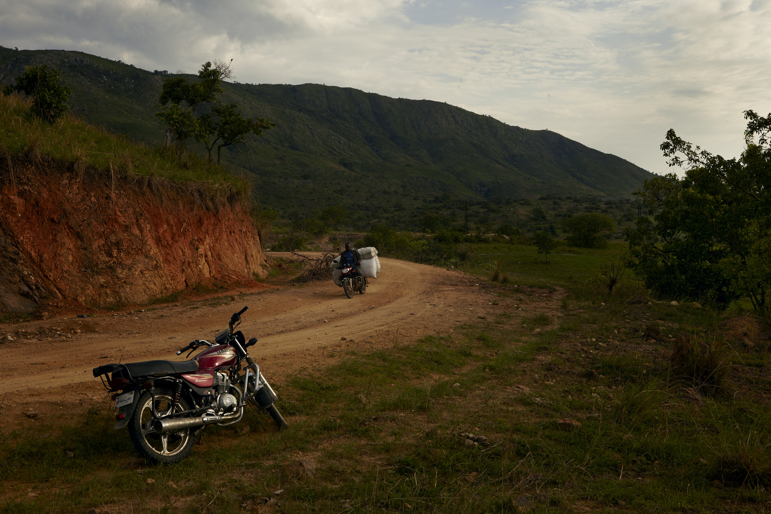 The bike that carried myself and my driver, Rigo, through the Ituri countryside from Bunia to Kasenyi on Lake Albert.