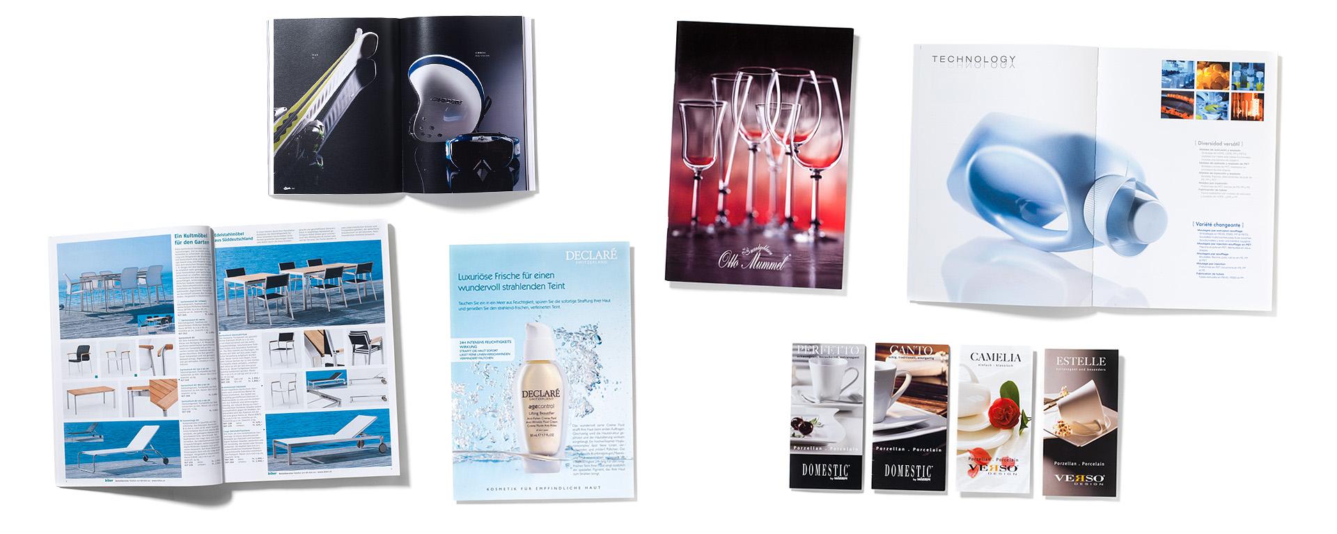 Fotowerk Referenzen: Kataloge, Prospekte
