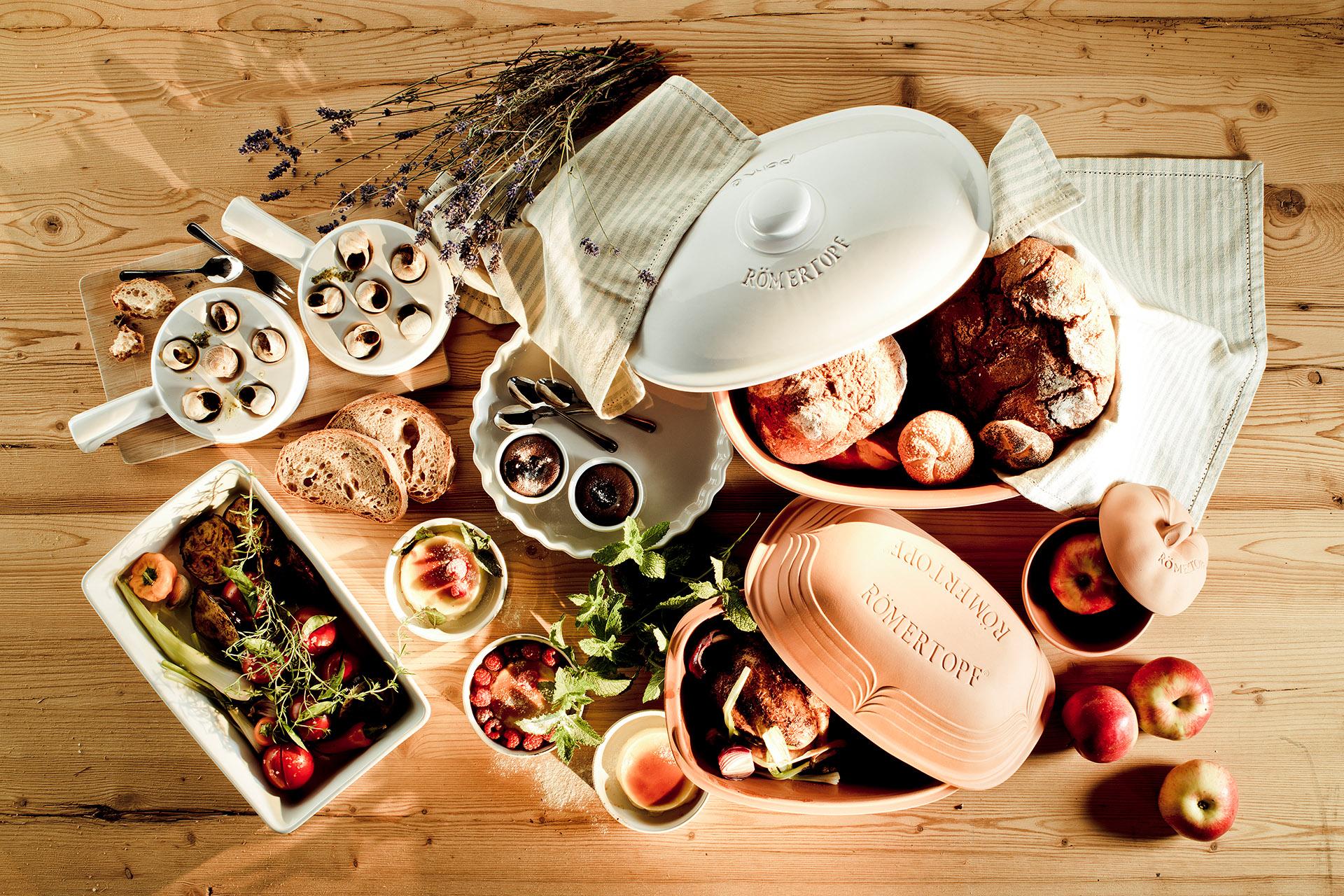 Mäser GmbH, Römertöpfe und deftiges Essen - Fotostudio für Foodfotografie, Fotowerk