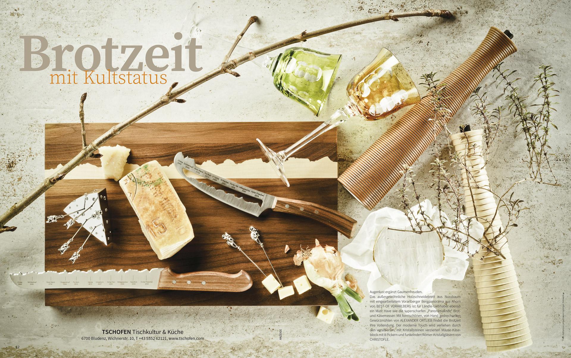 Fotowerk Lampelmayer - Produktfotografie für Tschofen Tischkultur