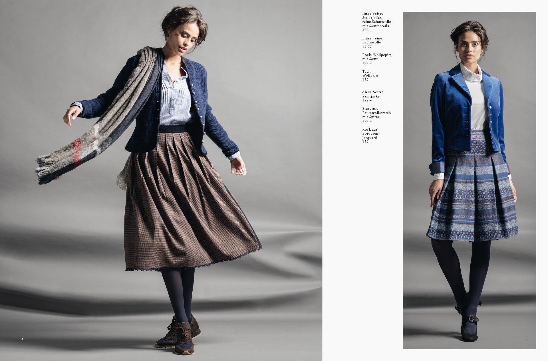 Fotowerk Modefotografie - neue Trachtenmode - Studiofotografie