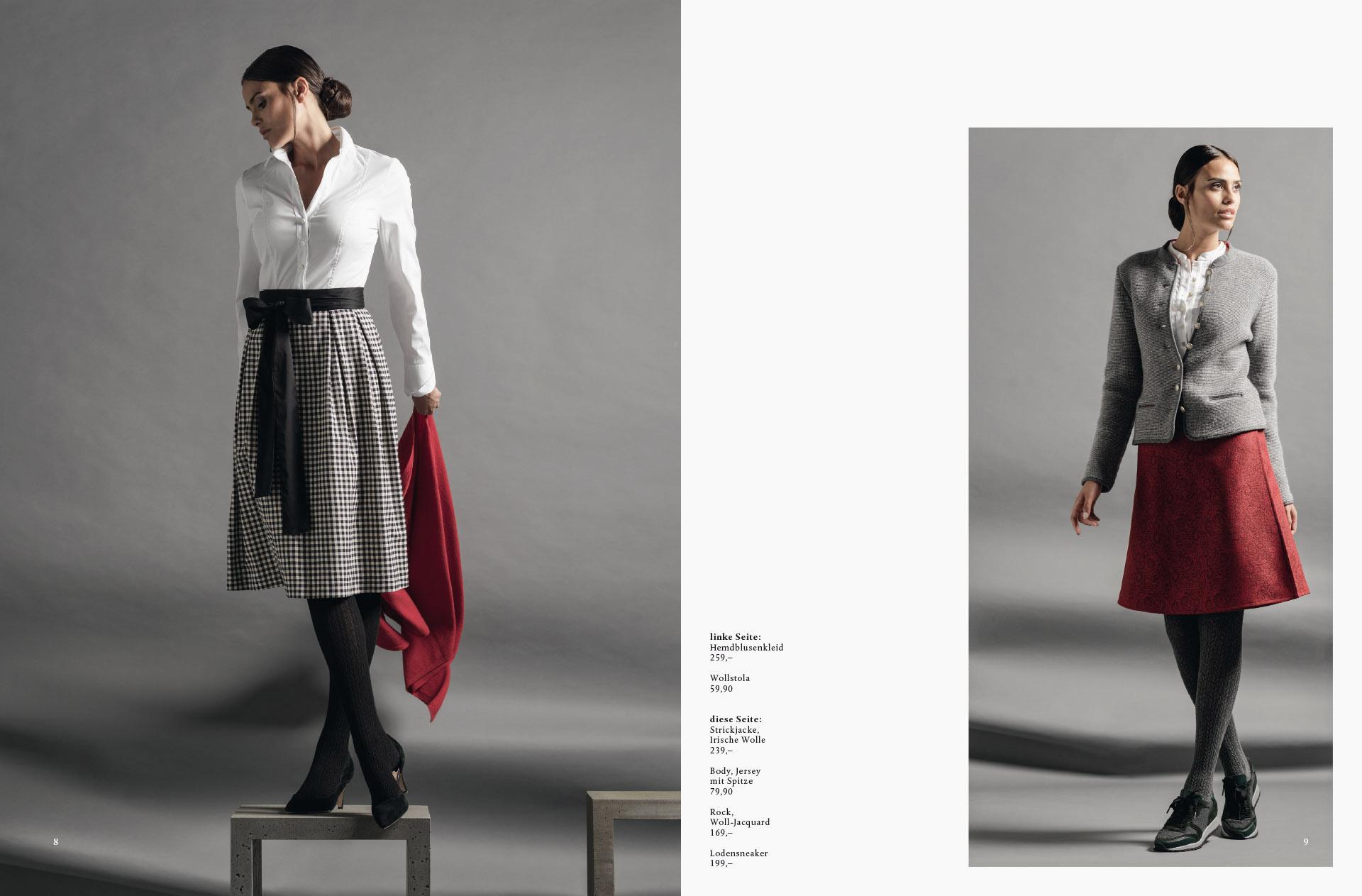 fotowerk Modefotografie - elegante Tracht für die Dame