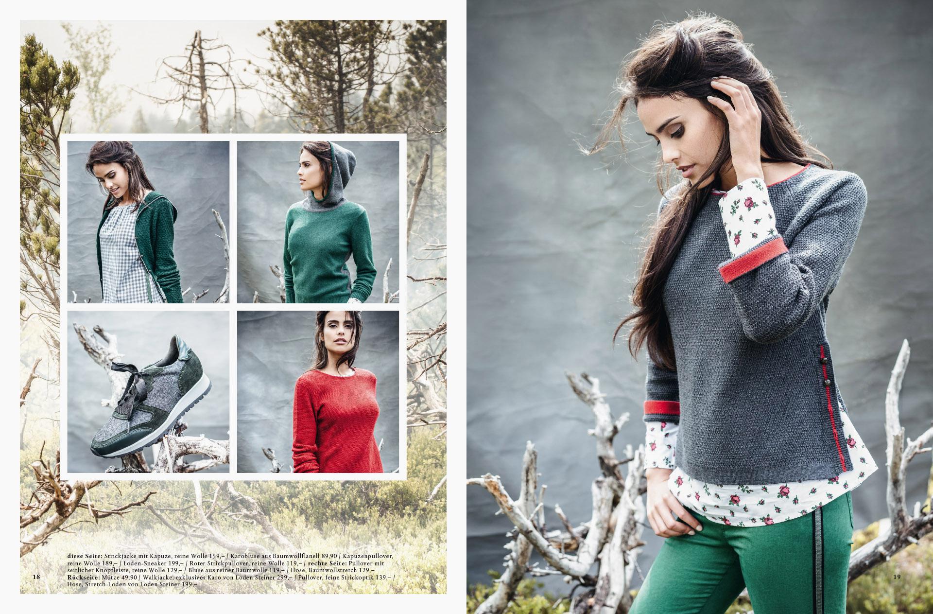 Fotowerk Modefotografie - Outfits in verschieden Farben