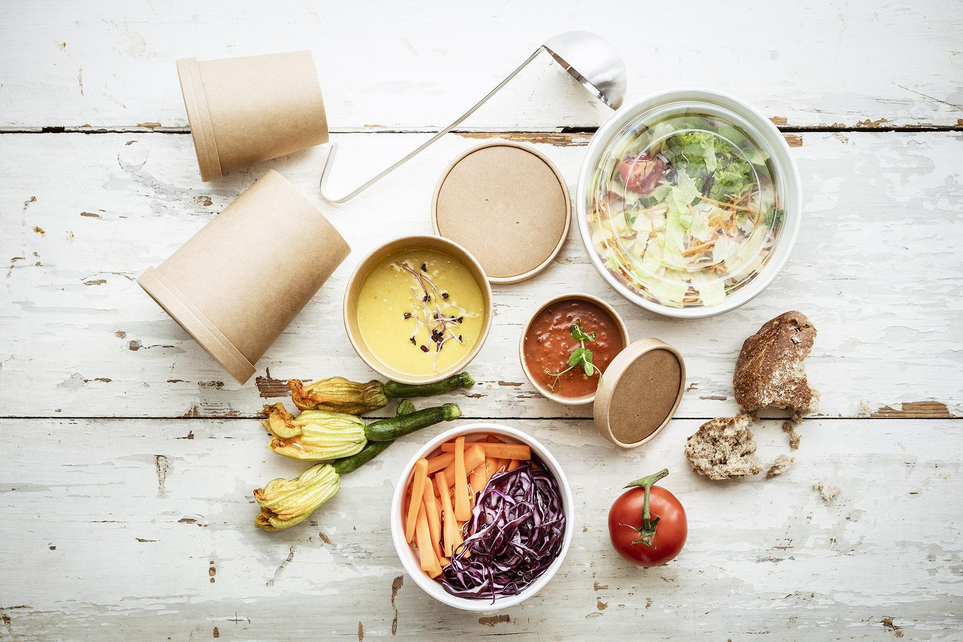 Fotowerk Foodfotografie - Verpackungen für Salat und Suppen