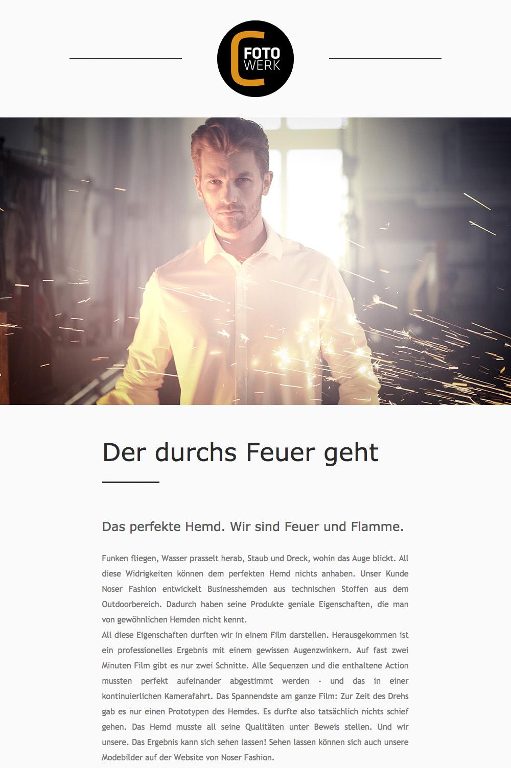 Fotowerk Newsletter 2018-03 - Imagefilm, Bildkampagne, Kunstfotografie