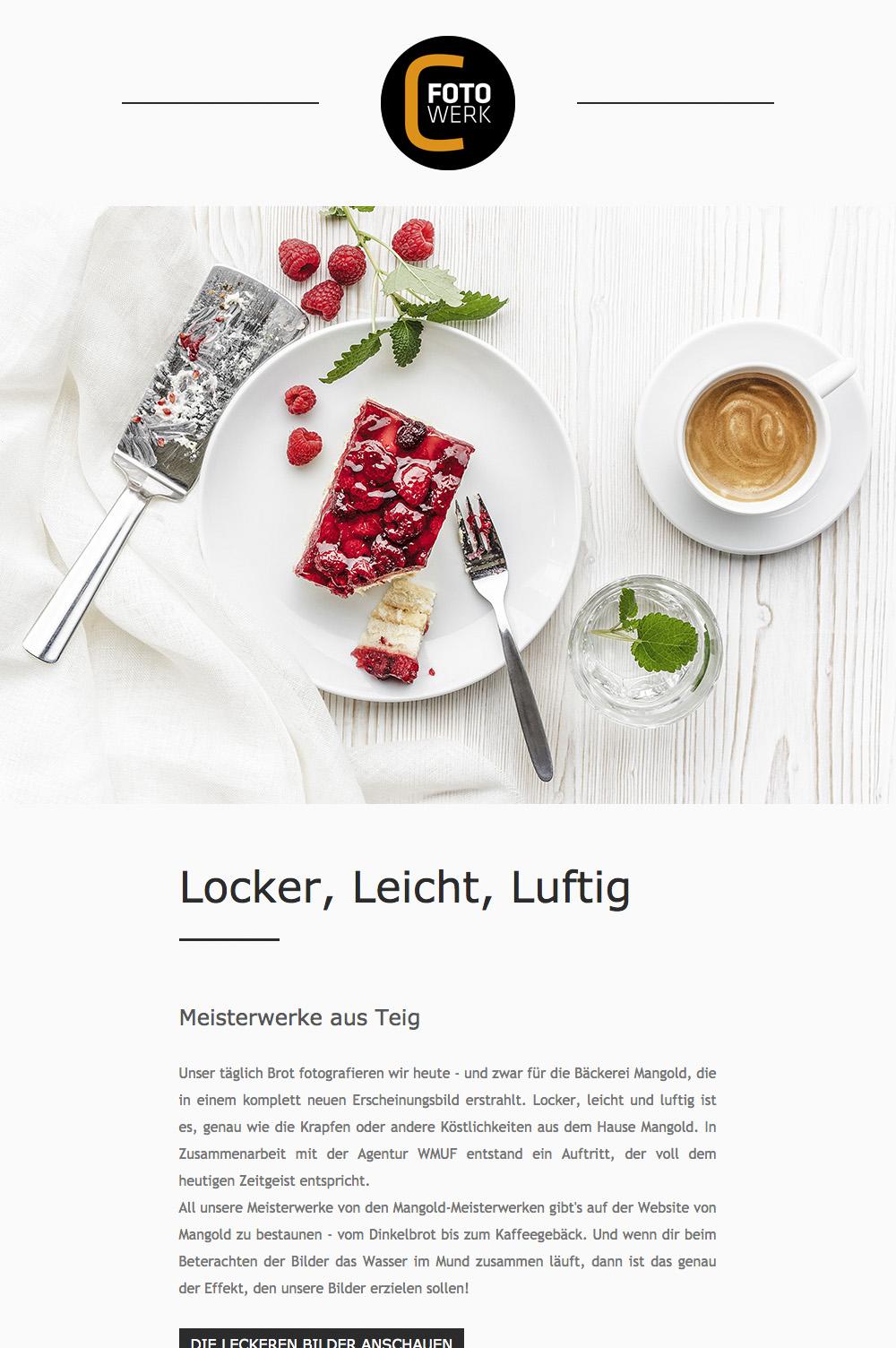 Fotowerk Newsletter 2019-02 - Foodfotografie, Modefotografie, Kunstfotografie