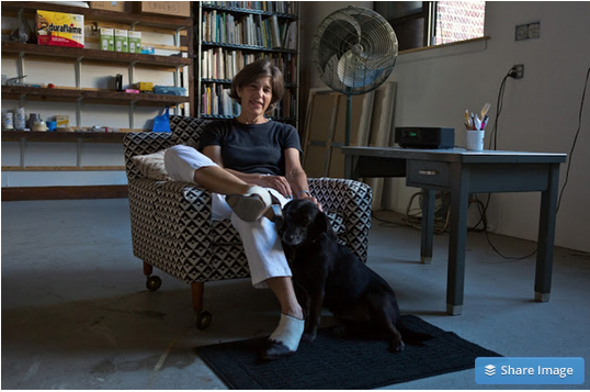 Deborah Brown in her studio. Photo credit: Youngna Park.