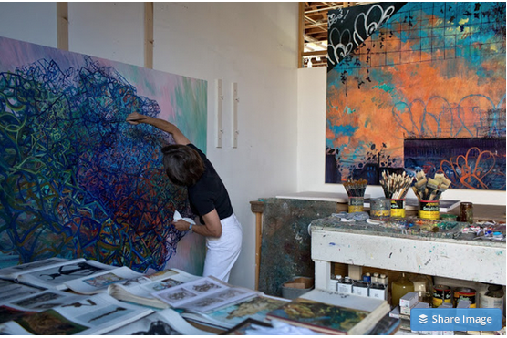 Deborah Brown in her studio. Photo credit: Young Na Park