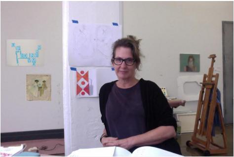 Sharon Butler in her DUMBO studio. Source: Two Coats of Paints. Image copy.