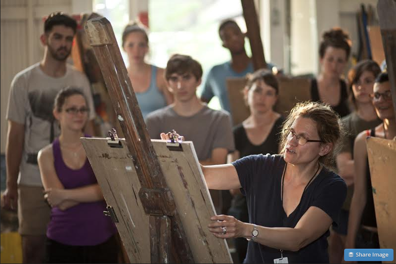 Sharon Louden teaching at Chautauqua