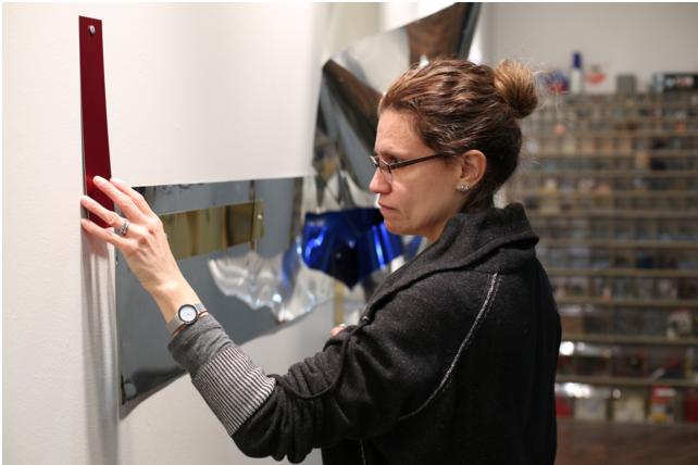 Sharon Louden  in her studio, Minneapolis, MN, November, 2015. Photograph by  Vinson Valega .