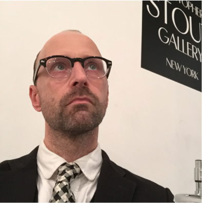 Image Caption: Christopher Stout in his gallery in Bushwick, Brooklyn