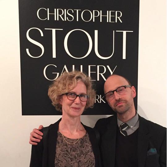 Image Caption: CSG/NY Opening Night, Portrait with Artist Anne Sherwood Pundyk