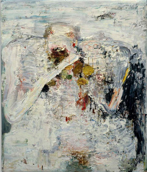 Self- Portrait 2 48x40 in. Oil on Wood 1994