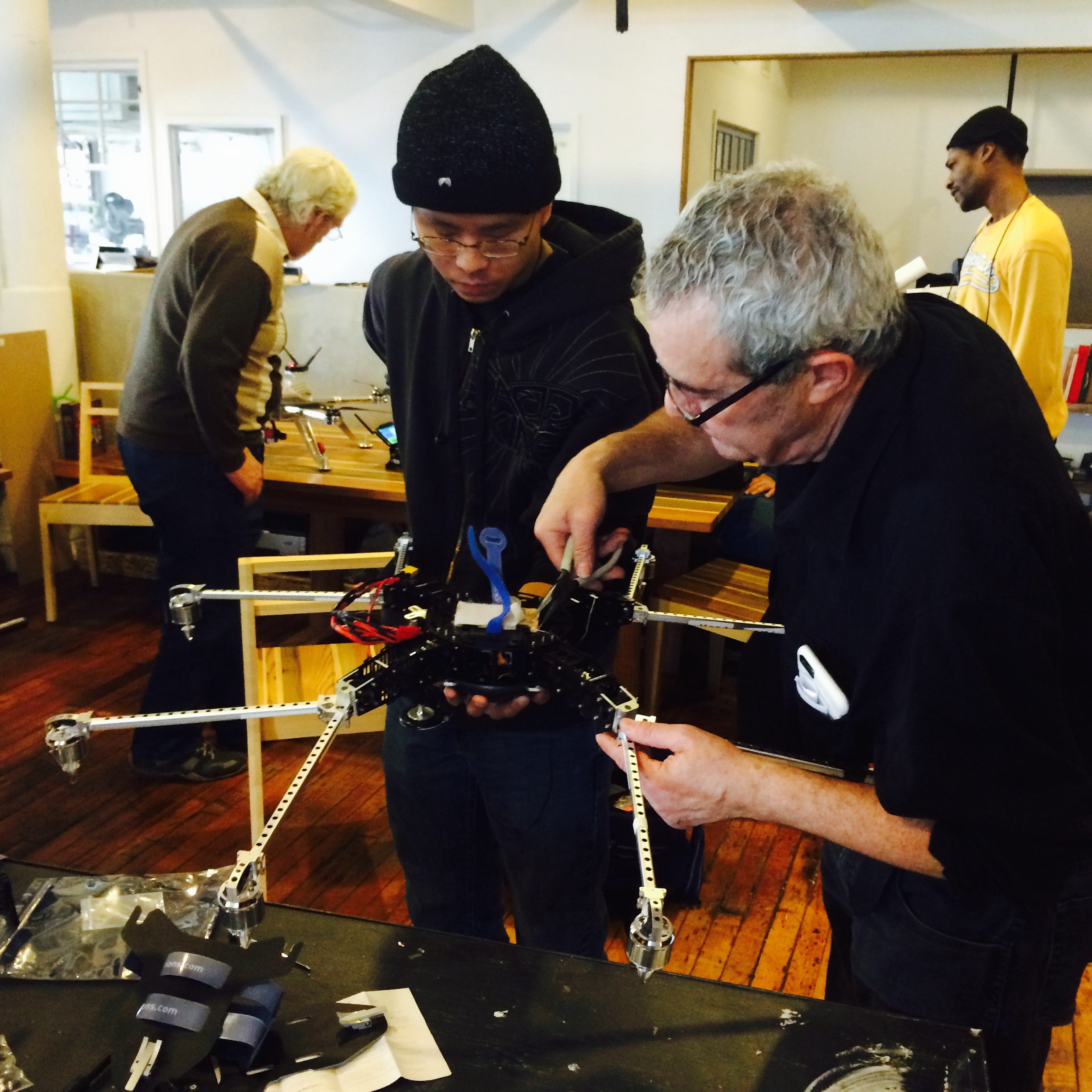 Drone building. Photo courtesy: Collab